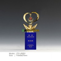 最美警察 水晶荣誉奖牌 从警30周年纪念牌 民警退休纪念品